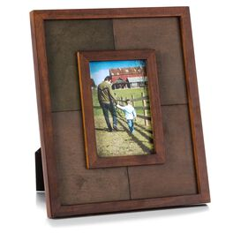 Colorblock Stained 4x6 Wood Picture Frame, , large