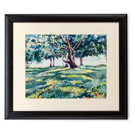 Shade Trees 20x24 Print With Matted Frame, , large
