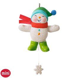 Snow Angel Memories Mini Snowman Ornament, , large