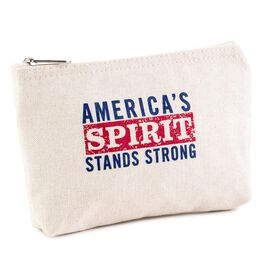 America's Spirit Canvas Zippered Makeup Bag, , large