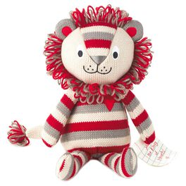 Liam the Lion Knitted Stuffed Animal, , large
