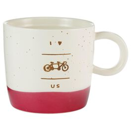 I Love Us Bicycle Mug, , large