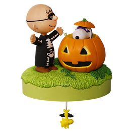 Trick or Treat? The Peanuts® Gang Halloween Musical Ornament, , large
