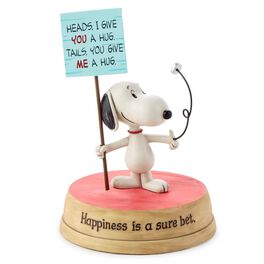 Peanuts® Snoopy Flipping A Coin Figurine, , large