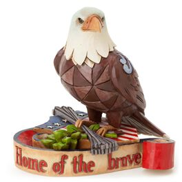 Mini Patriotic Eagle Figurine, , large