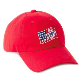 Free and Brave Red Baseball Cap, , large