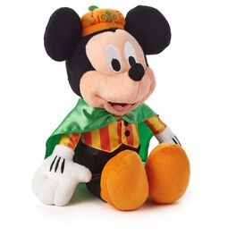 Pumpkin Prince Mickey Mouse Halloween Stuffed Animal, , large