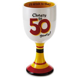 50th Birthday Wine Goblet, , large