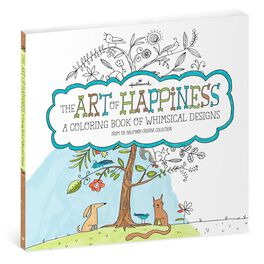 The Art of Happiness Whimsical Designs Coloring Book for Adults, , large