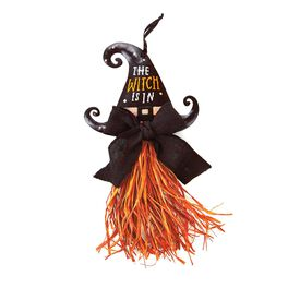 Witch Hat with Glitter Door Hanger, , large