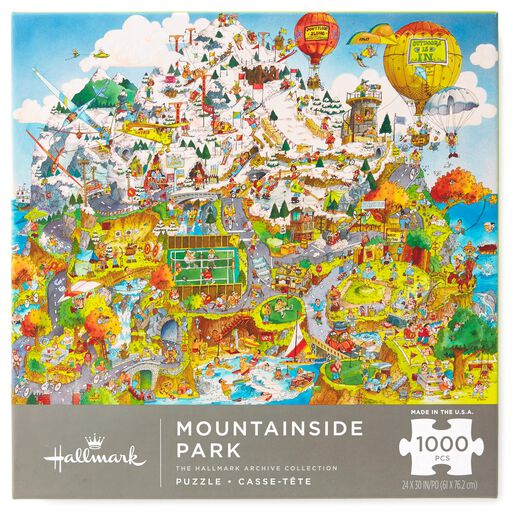 Mountainside Park City Illustration 1000-Piece Jigsaw Puzzle