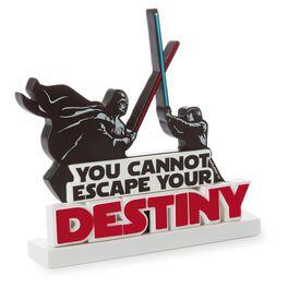 Metal Battle Scene Between Luke Skywalker™ and Darth Vader™ Desk Accessory, , large