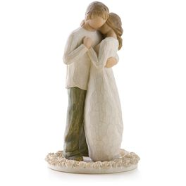 Willow Tree® Promise Wedding Engagement Love Cake-Topper Figurine, , large