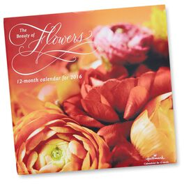 Beauty of Flowers 12-Month Wall Calendar, , large