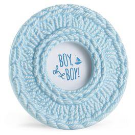 Boy Oh Boy Blue Crochet Baby Gift Frame, , large