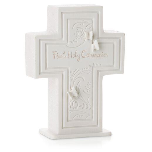 First Holy Communion Porcelain Cross Figurines Hallmark