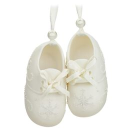 Baby's First Christmas Porcelain Baby Booties Ornament, , large