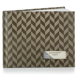 Brown Patterned Guest Book, , large