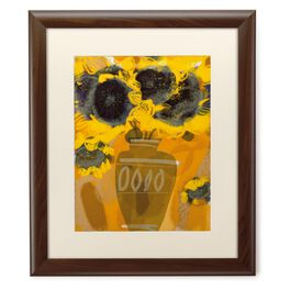 Sunflowers in Vase 20x24 Print With Matted Frame, , large