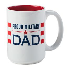 Proud Military Dad Ceramic Mug, , large