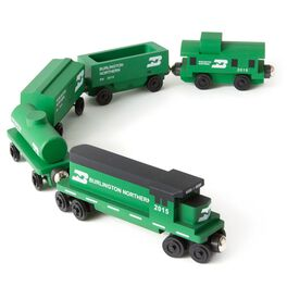 Burlington Northern Freight Wooden Train Set, , large