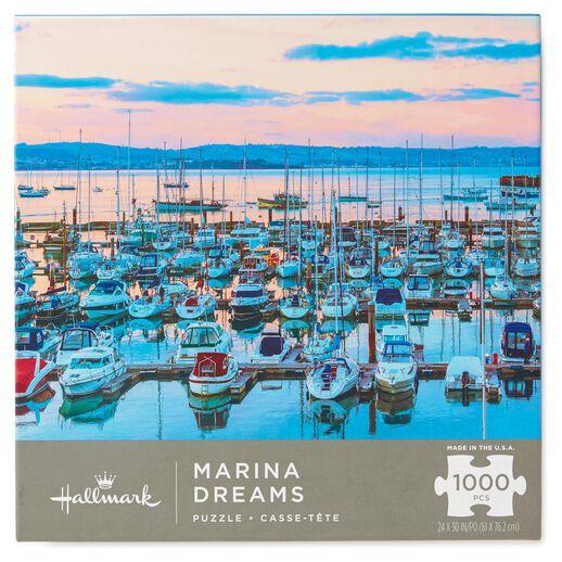 Marina Dreams Coastal Scene 1000-Piece Jigsaw Puzzle