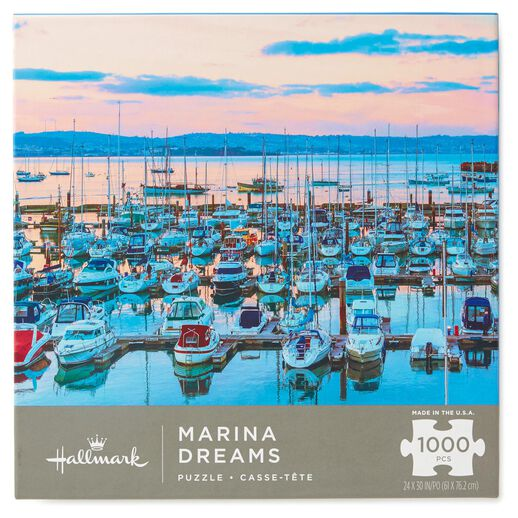 Marina Dreams Coastal Scene 1000-Piece Jigsaw Puzzle