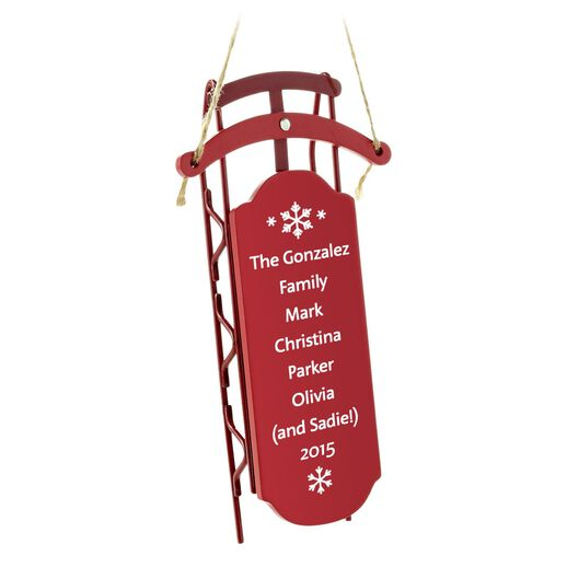 Sled with Rails Personalized Ornament