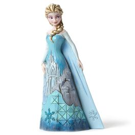 Disney Frozen Fortress of Frost Queen Elsa with Ice Castle Dress Figurine, , large