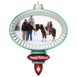 Family Photo Holder Recordable Ornament, , large
