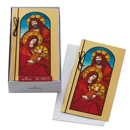 Stained Glass Holy Family Boxed Christmas Cards, , large
