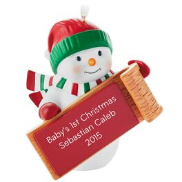Snowman Personalized Ornament, , large