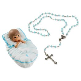 Precious Moments® Baptism Boy Box with Blue Rosary, , large