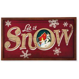 Let It Snow Enchanted Art Decoration, , large