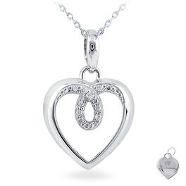Diamond Accent Heart Necklace, , large