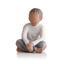 Willow Tree® Imaginative Child Figurine  (darker hair and skin tone), , large