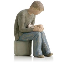 Willow Tree® New Dad Fatherhood Baby Figurine, , large