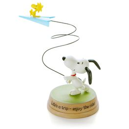 Woodstock on Paper Airplane Figurine, , large