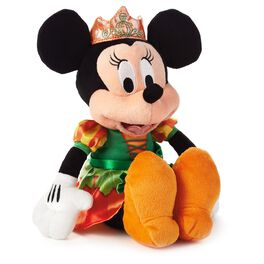 Pumpkin Princess Minnie Mouse Halloween Stuffed Animal, , large