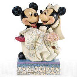 Congratulations, Mickey and Minnie Wedding Figurine, , large