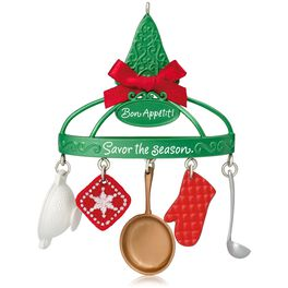 Bon Appétit Cooking Utensils Ornament, , large