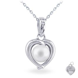 Pearl Heart Necklace, , large