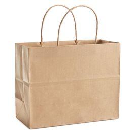 Gold Medium Christmas Gift Bag, , large