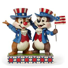 Hooray for the USA! Patriotic Chip and Dale Figurine, , large