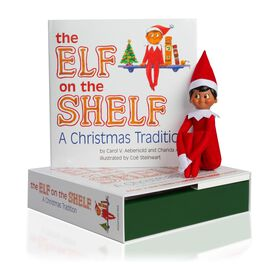 A Christmas Tradition with Brown-eyed, Dark Skin Tone Boy Elf, , large