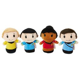 itty bittys® Star Trek™ 50th Anniversary Collector Set With Captain Kirk, Spock, Doctor McCoy and Lieutenant Uhura Stuffed Animals, , large