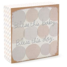 Bless This Baby Wood Art Block, , large