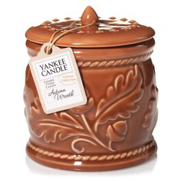 Autumn Wreath™ Ceramic Crock  Candle by Yankee Candle®, , large