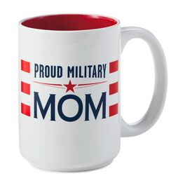 Proud Military Mom Ceramic Mug, , large