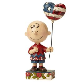 Allegiance—Patriotic Charlie Brown Figurine, , large